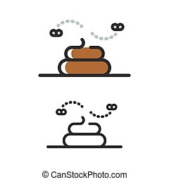 Poop line icon