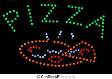 Pizza Neon Light Sign - Pizza Peperoni Neon Light Sign
