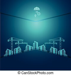 construction concept background vector illustration