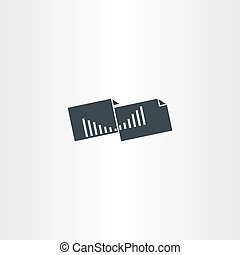 accounting statistics folder icon vector