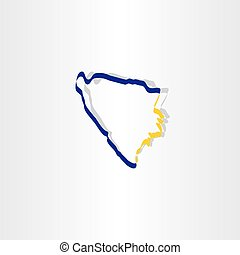 bosnia and herzegovina map icon vector sign