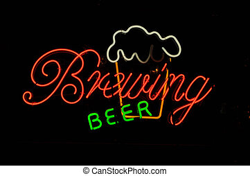Brewing Beer Neon Sign - Beer Brewing Neon Light Sign with...