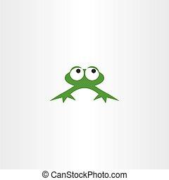 green frog icon vector symbol design