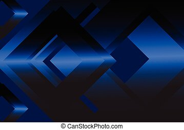 Navy blue abstract geometric background material design...