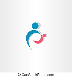 parent and child icon logo vector sign element