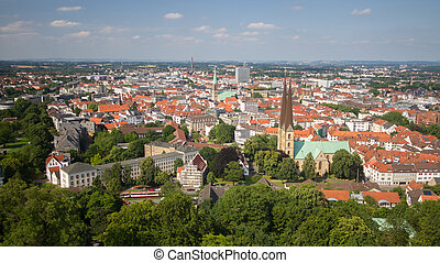 View over Bielefeld, Germany