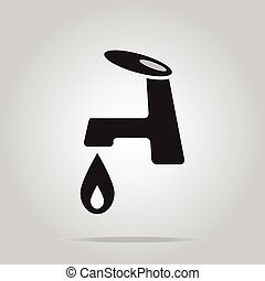 Faucet icon sign vector illustration