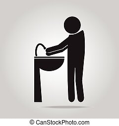 Wash your hands icon vector illustration