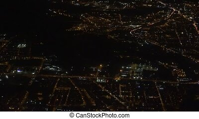 Night Time City Aerial
