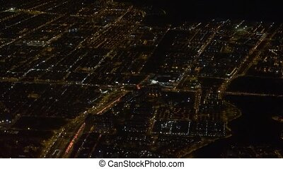 City Aerial At Night