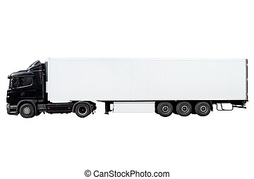 Modern truck with trailer - Modern truck with trailer...