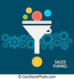 Sales Funnel Flat Concept - Sales Funnel Flat Style Concept....