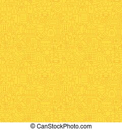 Thin Line Yellow Lawyer Justice and Crime Seamless Pattern...