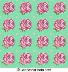 Flowers (stylized roses) seamless