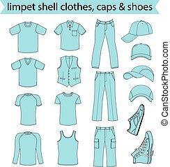 Menswear, headgear & shoes li