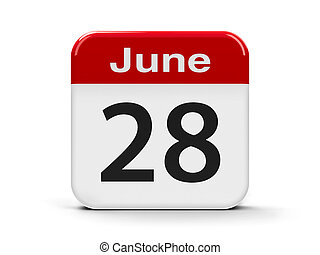 28th June - Calendar web button - The Twenty Eighth of June,...