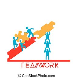 Teamwork - A group of people working together to complete a...