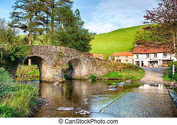 Malmsmead Bridge on Exmoor National Park - The bridge and...