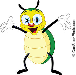 Beetle - Cute happy beetle