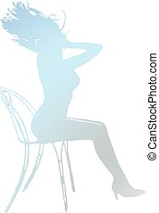 sexy girl, silhouette