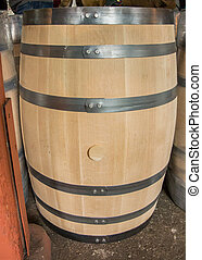 Unused Bourbon Barrel - Unused bourbon barrel before being...
