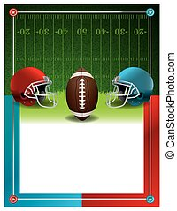 American Football Party Flyer Template - An American...