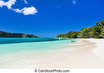 Stunning tropical beach at Seychelles