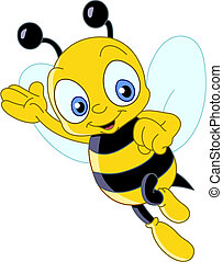 lindo, abeja