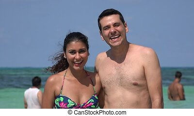 Summer Vacation Fun For Tourist Couple