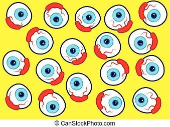 eyeball pattern design vector illustration