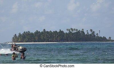 Jet Ski And Island