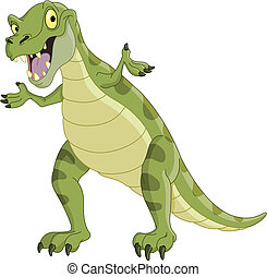 Dinosaur - Vector illustration of a T-Rex presenting