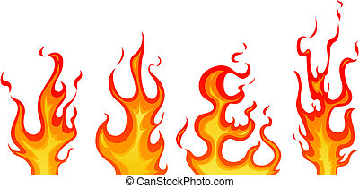 Flames - Set of vector flames