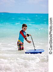 Summer vacation fun - Little boy on vacation having fun...