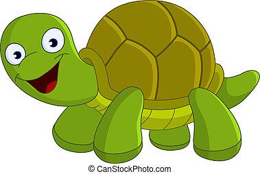 heureux, tortue