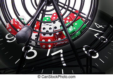 Bingo Game Cage and Clock