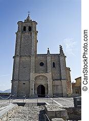 Fortaleza de La Mota Major Abbey Church - View of the facade...