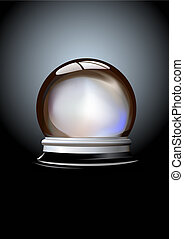 Crystal ball - Vector illustration of Crystal ball fortune...