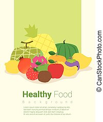 Healthy food background with fruits 2 - Healthy food...