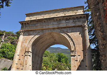 Augustus Arch in Susa - Arco di Augusto meaning Emperor...
