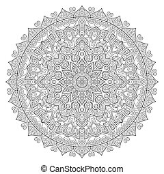 Vector indian Mandala - Ornament beautiful card with...