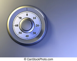 Safe lock - Numeric lock on a safe door Digital illustration...