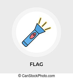 Flashlight vector flat icon - Flashlight icon vector Flat...