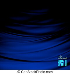 Abstract Magical Wave Background Illustration. Dark Bluish...