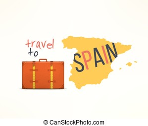Travel to spain concept Spanish traveler background Espana...