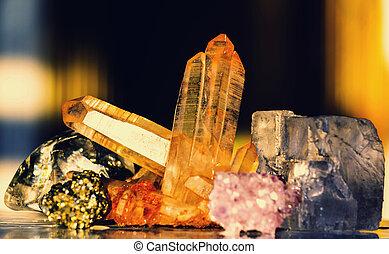 Crystal - Natural mineral Crystal close up