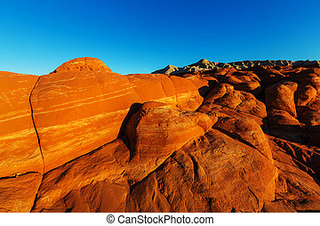 Sandstone formations in Nevada