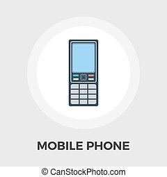 Phone flat icon - Phone icon vector. Flat icon isolated on...
