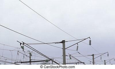 High-voltage network in the village