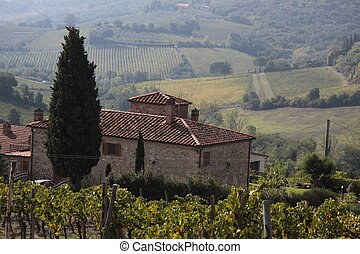 Tuscan country house near San Gimignano
